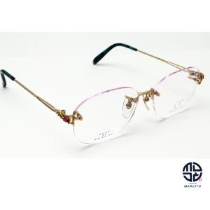 京セラ CRESCENT VERT クレサンベール CV-45 K18Dec 一部18金 メガネ 眼鏡 フレーム 合成ルビー marujyu78-brand