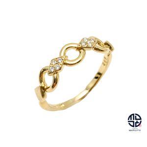 DIOR ディオール 750 18金イエローゴールド ダイヤ リング 指輪 14号 アクセサリー marujyu78-brand