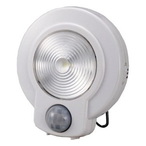 LEDセンサーライト(光&人感センサー) ホワイト NIT-L03M-W 07-9754|marukawa-elec