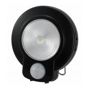 LEDセンサーライト(光&人感センサー) ブラック NIT-L03M-K 07-9755|marukawa-elec