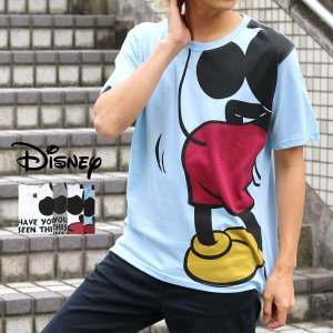 Tシャツ メンズ ディズニー Disney 半袖 キャラクター プリント ミッキー Mickey ティーシャツ カットソー|marukawa7