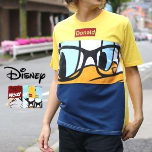 Tシャツ メンズ ディズニー Disney 半袖 キャラクター プリント ティーシャツ カットソー ミッキー ドナルド|marukawa7