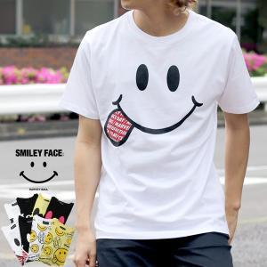 Tシャツ メンズ 半袖 スマイル プリント SMILE スマイリー ティーシャツ カットソー アメカジ かわいい|marukawa7