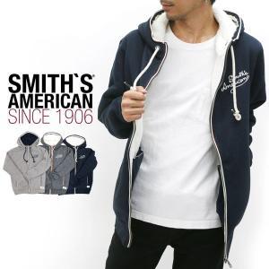 パーカー/メンズ/パーカー/フルジップパーカー/ジップアップ/裏ボア/SMITH'S AMERICAN/スミスアメリカン|marukawa7