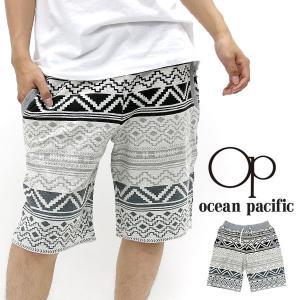 ショートパンツ/メンズ/ショートパンツ/OCEAN PACIFIC/裏毛/ネイティブ/プリント/スウェット/ハーフパンツ/OP marukawa7