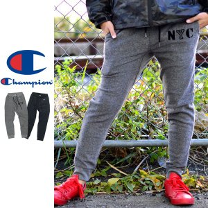 Champion チャンピオン スウェットパンツ メンズ イージーパンツ パイル 細身 裏起毛 C3-L207|marukawa7