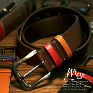 ベルト メンズ ベルト 本革 牛革 レザー ロングサイズ M...