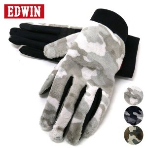 手袋/メンズ/手袋/スマホ対応/タッチパネル対応/迷彩/ブランド/EDWIN marukawa7