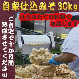 調味料 味噌 米味噌 米みそ 麹 大豆 ふるどの 天然醸造 みそ 自家仕込みみそ ダンボール箱入れ 30Kg|marumanjouzou