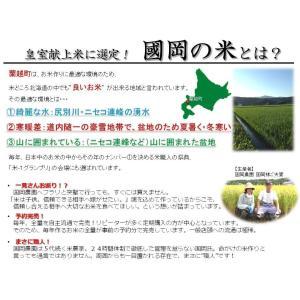 新米 ゆめぴりか 北海道産 10kg 国岡米 蘭越産 献上米 産地直送 令和2年度 5kg×2袋|marumanma|05
