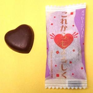 感謝を伝える人気のチョコ メッセージハートチョコレート(これからもよろしく。)<業務用>500g