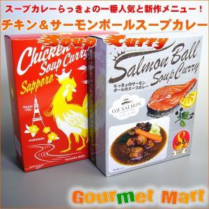 北海道 札幌スープカレー らっきょのチキン・サーモンボールスープカレー 北海道土産 marumasa-hokkaido