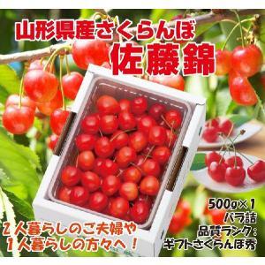 プレゼント ギフト さくらんぼ 佐藤錦 山形県産 500g(...