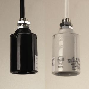 ペンダント器具 1灯用モーガルソケット ニップル(短)付 キャブタイヤコード30cm 白・黒(白熱灯・電球形蛍光灯・LED電球用)|marumitsu-ys