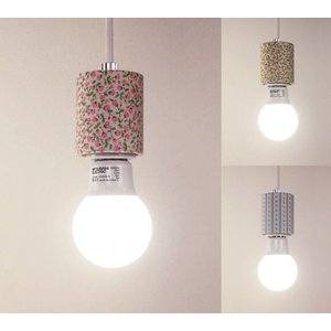 ファブリック モーガルペンダントソケット フラワー (電球別売) E26 LED電球専用 送料無料 |marumitsu-ys