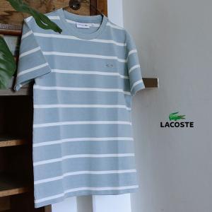 LACOSTE ラコステ インディゴボーダーTシャツ TH309E-MG 1000807 メンズ トップス 半袖|marumiya-world