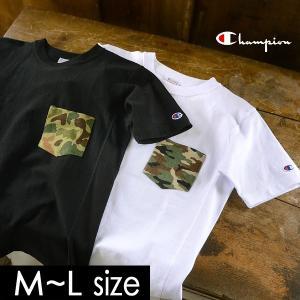 メール便不可 チャンピオン カモフラポケットリバースウィーブ半袖Tシャツ C3-B369-MG メンズ トップス ティーシャツ 無地 シンプル Champion 1000852 marumiya-world
