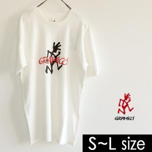 メール便可 グラミチ ランニングマン半袖Tシャツ GMT-18S053-LM メンズ トップス プリント ロゴ シンプル GRAMICCI 1000860 marumiya-world