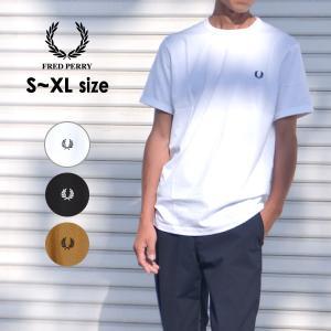 メール便可 フレッドペリー M3519-mLm リンガーTシャツ メンズ レディース 半袖 Tシャツ ロゴ シンプル 無地 ユニセックス FRED PERRY 1000878|marumiya-world