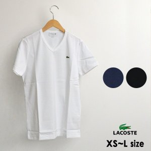 メール便可 ラコステ TH632EM-5M ベーシックVネックTシャツ メンズ レディース ユニセックス 半袖 Tシャツ 無地 シンプル ロゴ LACOSTE 1000880 marumiya-world
