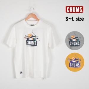 メール便可 チャムス CH01-1707-mLm アーチェリーブービーTシャツ メンズ トップス 半袖Tシャツ ロゴ プリント スポーツ 大人 男性 CHUMS 1000932|marumiya-world