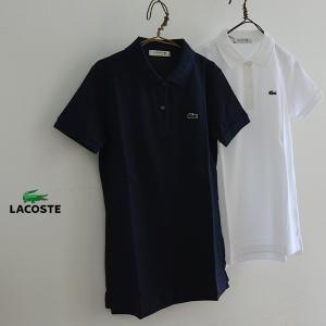 LACOSTE ラコステ コットンポケポロシャツ PF958E-MG 2002017 レディース トップス 半袖 ラコステ|marumiya-world