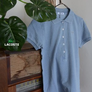 LACOSTE ラコステ インディゴ染めポロシャツ PF025E-MG 2002040 レディース トップス 半袖|marumiya-world