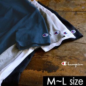 メール便可 チャンピオン クルーネック半袖Tシャツ CW-M322-LM レディース トップス ティーシャツ シンプル ムジ Champion 2002284 |marumiya-world