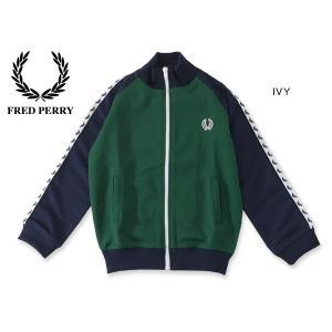 FRED PERRY フレッドペリー KIDS COLOUR BLOCKED TADED TRACK JACKET SY9521-MG キッズ トップス 羽織り トラック ジャケット 子供 子ども 4014944|marumiya-world