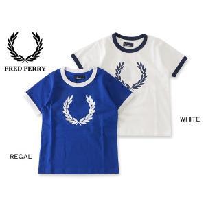 FRED PERRY フレッドペリー ロゴプリント半袖Tシャツ SY1532 キッズ ベビー トップス カットソー 男の子 プレゼント 子ども 4016006|marumiya-world