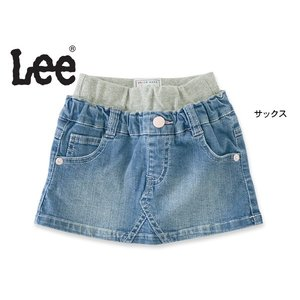 Lee リー ウエストリブデニムスカート 9187614 キッズ ベビー ボトムス ボトム 女の子 子供 こども 子ども 4016405|marumiya-world