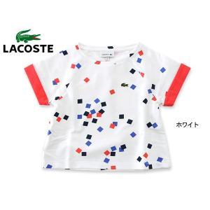 LACOSTE ラコステ Girls Tシャツ TJ2758-MG キッズ トップス 半袖 女の子 子供 こども 子ども 4016878|marumiya-world