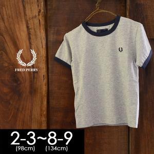フレッドペリー KIDS RINGER T-SHIRT SY3519-9m キッズ ベビー トップス Tシャツ ティーシャツ 半袖 カットソー 男の子 子供服 FRED PERRY 4018102|marumiya-world