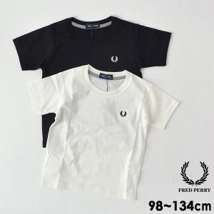 フレッドペリー KIDS CREW NECK T-SHIRT FY1002-7m キッズ ベビー トップス Tシャツ シャツ 半袖 男の子 カットソー シンプル 子供服 FRED PERRY 4018103|marumiya-world
