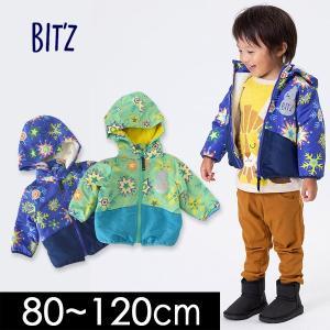 メール便不可 ビッツ B501018-MG 雪柄防寒ジャケット キッズ ベビー トップス アウター ブルゾン ジャンバー 中綿 Bitz 4019957|marumiya-world