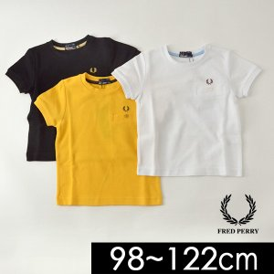 メール便可 フレッドペリー FY1674-122M KIDS PIQE T-SHIRT キッズ トップス Tシャツ 半袖 ポケT ポケット付き 鹿の子 男の子 男児 子供服 FRED PERRY 4020344|marumiya-world