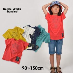 61e1c7863d676 メール便可 ニードルワークススタンダード 319002-15M Smile T-shirt キッズ ベビー トップス 半袖 Tシャツ プリント  シンプル ロゴ 子供服 4020913