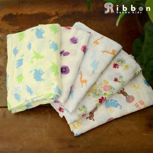 Ribbon リボン hakka kids ハッカベビー ガーゼおくるみ 03030050-MG 7006752 男の子 女の子 ベビー ベビー服 出産祝い