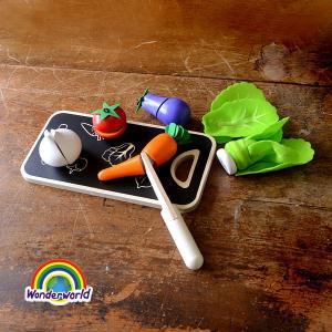 ワンダーワールド ファイブカラー・ベジタブル DA145526-MG 7007864 キッズ おままごと お家ごっこ キッチン 料理 野菜 セット 木製  Wonderworld |marumiya-world