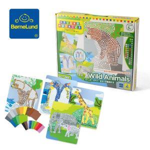 メール便不可ボーネルンド スティッキーモザイク せかいの動物たち OR73343-MG キッズ おもちゃ オモチャ 玩具 知育玩具 BorneLund 7008546 ※定番|marumiya-world