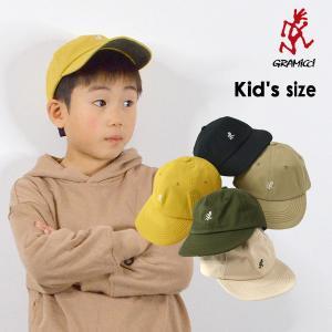 メール便不可 グラミチ GAC-18F041-K-MG KIDS UMPIRE CAP キッズ 帽子 キャップ ぼうし ボウシ アウトドア 日よけ ハット ロゴ 男の子 女の子 GRAMICCI 7008693|marumiya-world