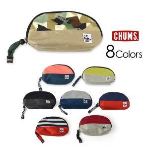 メール便不可 チャムス CH60-2686-MG Shell pouch Sweat Nylone レディース メンズ シェルポーチ スウェット ナイロン ポーチ 内ポケット CHUMS 7008948|marumiya-world