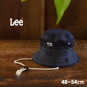 メール便不可 リー 9185355-MG LEEデニムハット キッズ ベビー 帽子 ぼうし ファッション小物 日よけ あご紐 サイズ調節 アウトドア 子供服 Lee 7008986|marumiya-world