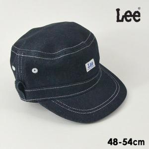 メール便不可 リー 9185582-MG Leeデニムワークキャップ キッズ 帽子 ボウシ ぼうし ロゴ シンプル 無地 マジックテープ 子供 ファッション小物 Lee 7009477 marumiya-world