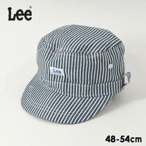 メール便不可 リー 9185583_9185331-MG Leeヒッコリーワークキャップ キッズ 帽子 ボウシ ぼうし ロゴ  マジックテープ 子供 ファッション小物 Lee 7009478 marumiya-world