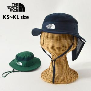メール便不可 ノースフェイス NNJ02007-MG Kids Camp Sunshield Hat/キッズキャンプサンシェールドハット キッズ 帽子  THE NORTH FACE 7009622|marumiya-world