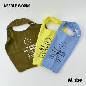 メール便可 ニードルワークス 2121623A-mMm Smile pocketable bag/スマイルポケッタブルバッグ レディース メンズ エコバッグ NEEDLE WORKS 7009897 marumiya-world