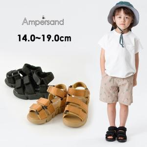 メール便不可アンパサンド L249060-MG-W4 テープサンダル[14.0cm-19.0cm] キッズ ベビー 靴 くつ クツ シンプル 無地 ampersand 8001754 marumiya-world