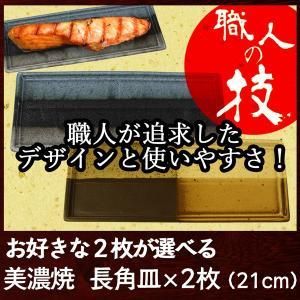 美濃焼 磁器 和食器 洋食器 長角皿2枚セット(21cm)日本製 おしゃれ 和モダン 魚皿 長皿|marumotakagishopping