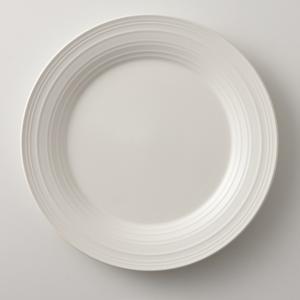 MIKASA ミカサ Swirl スワール プレート 28.7cm ホワイト アメリカン おしゃれ かわいい シンプル 無地 食器 洋風 陶器 ギフト プレゼント maruri-tamaki
